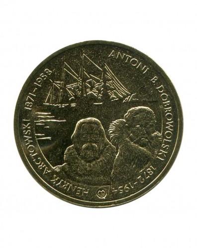 2 злотых арктовский и добровольский литва монета1936года номинал 10